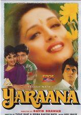 YARAANA - ORIGINAL EROS BOLLYWOOD DVD - Rishi Kapoor, Madhuri Dixit, Raj Babbar.