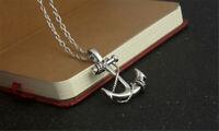Vintage Anchor Necklace Pendant Men Titanium Steel Retro Biker Punk Rock Jewelry
