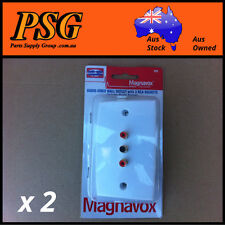 Wall outlet with 3 RCA sockets, AV, Audio-Video with plaster bracket