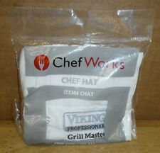 Chef Works Hat White One Size Viking Professional Grill Master Free Ship d75