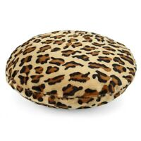 Women Beret Hat Sweet Warm Winter Wool French Style Leopard Beanie Ski Cap Hat