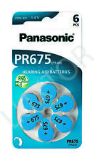 60 Stück Panasonic Hearing Aid batteries Air Zinc PR 675