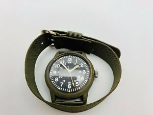 Vietnam War Westclox Military Watch 1970 MIL-W-46374A movement D-407 runs + band