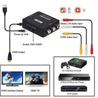 Cinch AV / HDMI Konverter / Adapter für Gamecube Nintendo Sega-Gene SNES N64