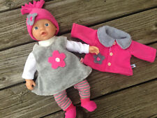 KLEIDUNG + Jacke  für Puppen Gr. 32 little Baby Born Aquini Muffin Corolle NEU