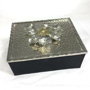 Delightful MICHAEL ARAM Clover  Lidded Small Jewelry Box