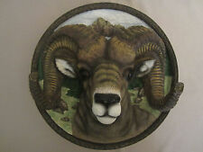 Big Horn Sheep 3-D collector plate Donna Parker Nature's Nobility #5