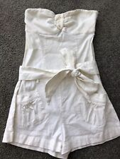Marciano by Guess Stunning Linen White Jump Suit With Belt Size Small