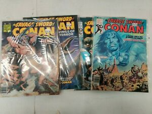 SAVAGE SWORD OF CONAN THE BARBARIAN  HIGHER GRADE LOT 28 30 34 36 MARVEL 1978