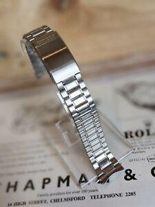 Vintage Citizen Stainless Steel Curved Lug Clip Bracelet Boxed - 18mm