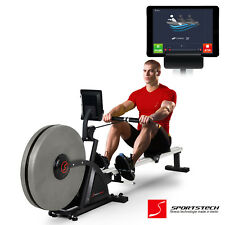 Sportstech RSX600 professional rowing machine - Air Magnetic Drive - Smartphone