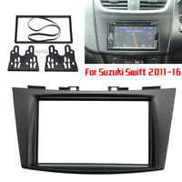 Double Din Radio Stereo Fascia Panel Plate Adapter For Suzuki Swift 2011-2016 #