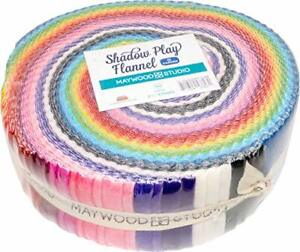 Shadow Play Flannel Garden Strips 40 2.5-inch Strips Jelly Roll Maywood Studio