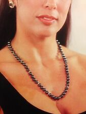 new handmade hematite necklace with 14k gold beads semi precious stones