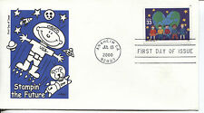 WORLD STAMP EXPO 2000 STAMPIN' THE FUTURE ARTMASTER CACHET & STORY UNADDR FDC