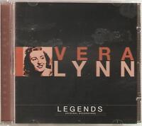 VERA LYNN LEGENDS CD ORIGINAL RECORDINGS - WHITE CLIFFS OF DOVER & MORE