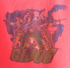 RETRO VINTAGE STYLE G.I. JOE T-SHIRT MENS LARGE (L) RED & BLACK VERY GOOD COND.