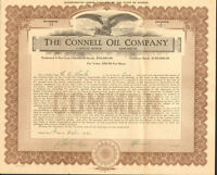 The Connell Oil Company > 1921 Kansas stock certificate share