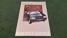 1988 / 1989 RENAULT ESPACE TSE / 2000-1 / TURBO DX / QUADRA - ITALIAN BROCHURE