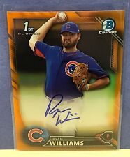 Ryan Williams Auto 2016 Bowman Chrome ORANGE REFRACTOR Autograph SP/25 RARE Cubs