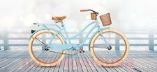 "26"" Women's Cruiser Bike Bicycle Beach Huffy Ladies Deluxe Basket Drink Holder"