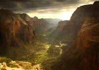 Canyon Valley Nature Poster Print Size A4 / A3 Utah Landscape Poster Gift #13074