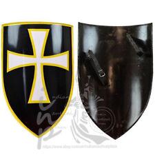 Medieval Knights Templar Regal Holy White Cross Mattel Shield Cosplay LARP