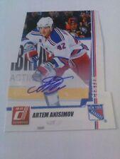 Artem Anisimov 2010-11 Donruss Die Cut Signature Auto /25 Rangers
