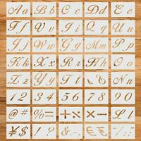 40PCS Art Letter Stencil, Reusable Number Symbol Upper and Lowercase Letters