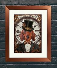 Steampunk Dachshund Wall Art Genuine Dictionary Page Art Print