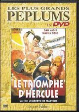 DVD ZONE 2--PEPLUM--LE TRIOMPHE D' HERCULE--VADIS/TOLO/DE MARTINO