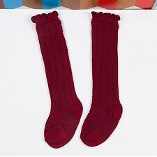 Newborn Toddler knee high sock baby Girls Boys Solid Long Socks Accessories FO
