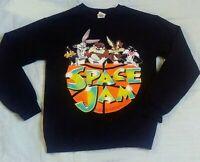 Space Jam Sweatshirt Black Shirt Looney Tune's Squad 90's Vintage Small
