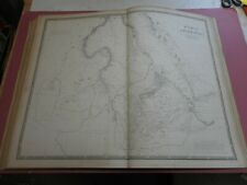 100% ORIGINAL LARGE NUBIA ABYSSINIA MAP BY JOHNSTON NATIONAL ATLAS C1857 VGC