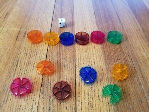 Trivial Pursuit Millennium Edition Pies, Pieces, dice