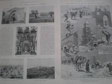Photo article and print Palestine & building German Church Jerusalem 1898