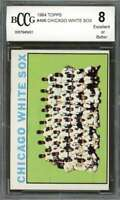 Chicago White Sox Tc Unmarked Team Card 1964 Topps #496 BGS BCCG 8