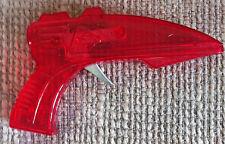 VINTAGE RED PLASTIC TOY RAY GUN FRICTION SPARKER 1970s LAZER LASER