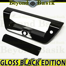 2015-2017 FORD F150 F-150 GLOSS BLACK Tailgate Handle COVER Door Trim Overlay