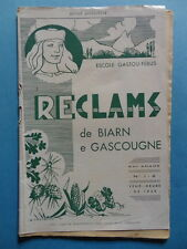 Reclams Béarn Gascogne N° 1-2 1959 Bordeaux Palay Saint-Bézard Caillabère Borie
