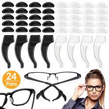 24 Pairs Anti Slip Glasses Ear Hooks Tip Eyeglasses Grip Temple Holder Nose Pads