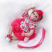 Lifelike Baby Girl Doll Silicone Vinyl Reborn Newborn Dolls w/ Clothes 22inch US