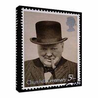 2174 British Stamp Winston Churchill Canvas Wall Art Picture Print