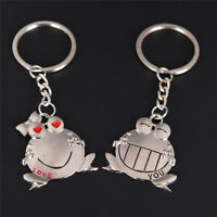 Couple Key Chain Cute Frog Pendant Lovers Keychain Keyring Ring Keyfob Gift NS
