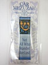 "Car Mezuzah 2.5"" Acrylic WANDER with Travelers Prayer Scroll"