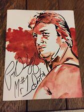 Mr. Wonderful/Paul Orndorff Autographed 8x10 Art Print. WWE HOF!