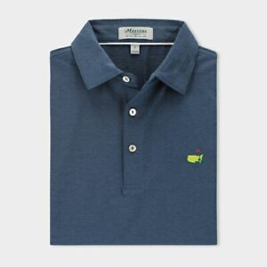 🔥 2021 Masters by Peter Millar Solid ANGC Polo NWT - Small Navy 🔥