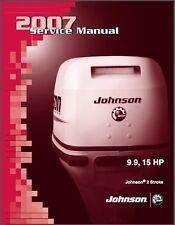 Johnson 9.9 - 15 HP 2-Stroke Outboard Motor Service Repair Manual CD