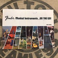 "Vintage 1968 Fender ""Musical Instruments...ON THE GO!"" Guitar Catalog 1960's"