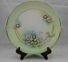Rudolstadt Thuringia Studio Hand Painted Floral Handled Plate